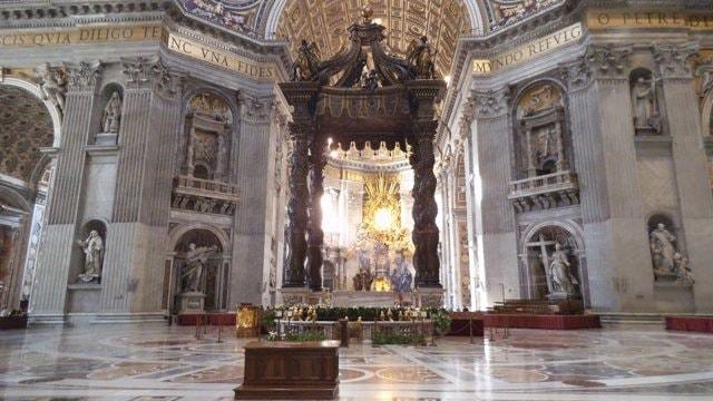 St Peter's baldachin in Rome