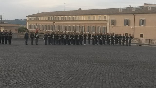 Changing of the Guard in a solemn way