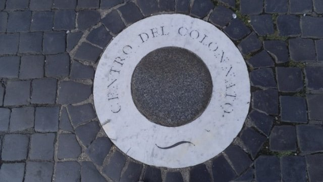 Center of the colonnade in St. Peter's Square