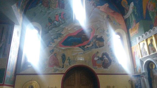 Affresco della Natività nella chiesa ortodossa