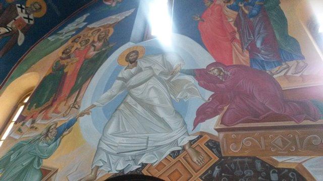 Affresco della Pasqua nella chiesa ortodossa
