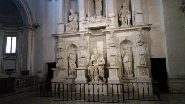 La statua di Mosè del Buonarroti in San Pietro in Vincoli