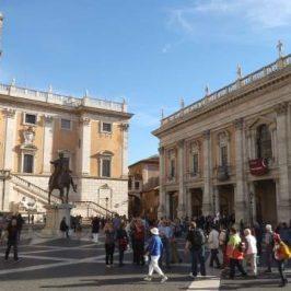 Entrata dei Musei capitolini a Roma