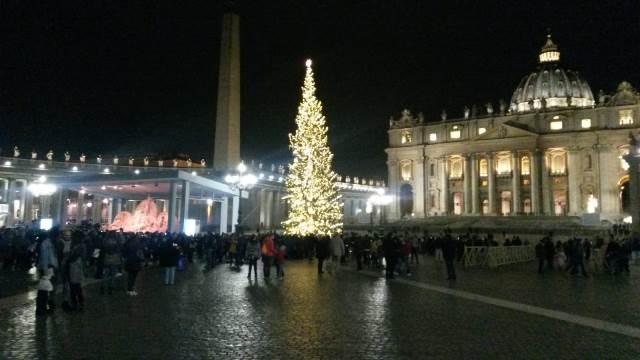 Gli alberi di Natale di Roma: l'albero di Piazza San Pietro
