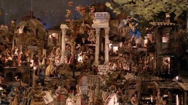 Il presepe della basilica dei SS Cosma e Damiano a Roma