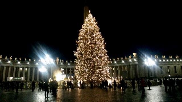 L'Albero e il presepe a piazza San Pietro